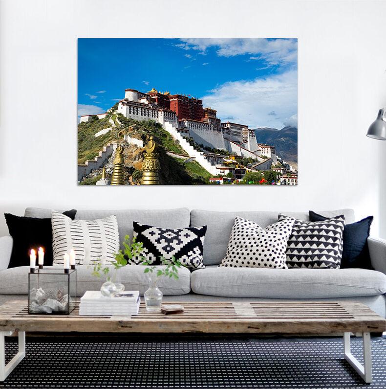 3D Schöne Hügelhaus 754 Fototapeten Wandbild BildTapete Familie AJSTORE DE