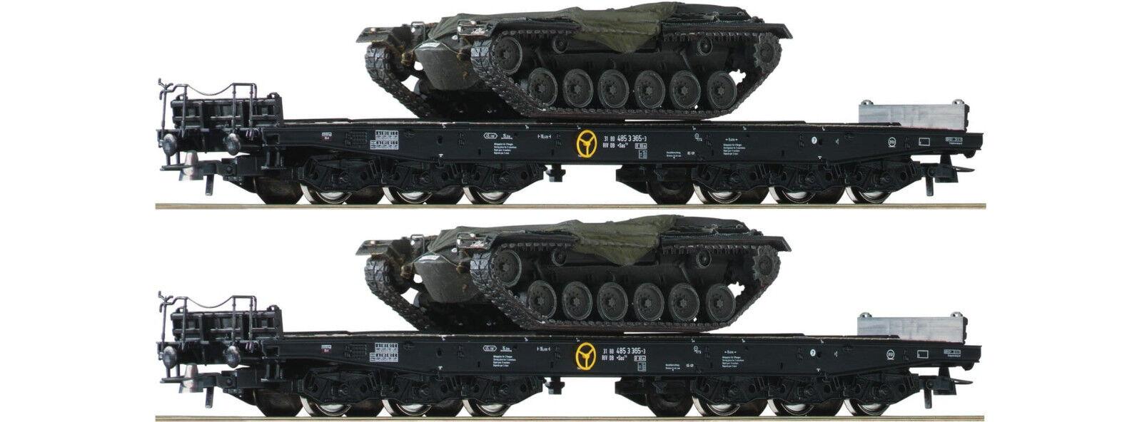 ROCO 76161 pesanti-Set 2 pezzi con m48 carri carri carri armati vasche dB DC h0 SVENDITA 4a9236