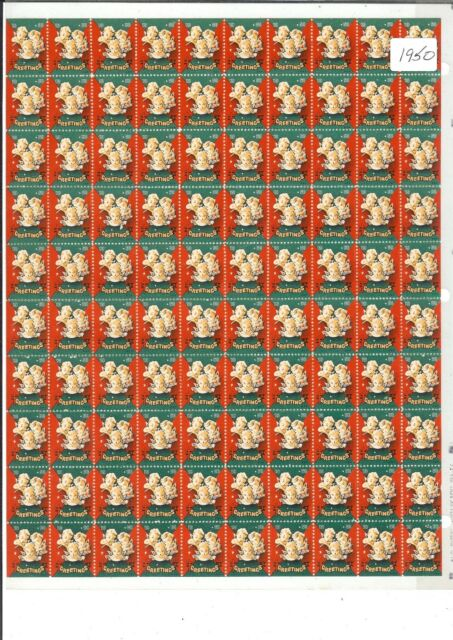 1950 Christmas Seals Full Sheet of 100 - Mint Never Hinged  EXCELLENT CONDITION
