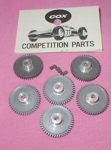 45 Tooth Factory Dealer Bags of 6 Spur Gears by COX Original Slot Car NOS Bulk
