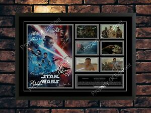 STAR WARS 2019 THE RISE OF SKYWALKER SIGNED  A4 PHOTO PRINT MOVIE MEMORABILIA