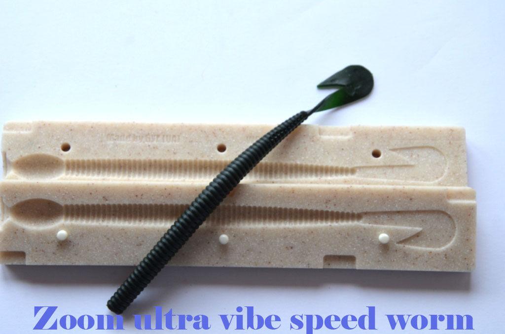 DIY Injection Bait Mold Zoom Ultra Vibe Speed Worm Moule Gießform für Gummiköder