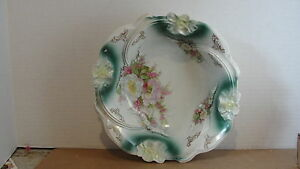 """Germany L@@k! To Assure Years Of Trouble-Free Service 10-1/4"""" Floral Bowl -textured Inside"""