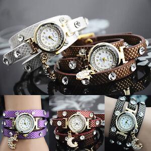 axy® Wickelarmbandu<wbr/>hr Serie 8-Strass Damen-Armbandu<wbr/>hr-Wickelarmba<wbr/>nd-Watch