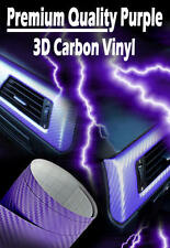 1520mm x 300mm Purple 3D Carbon Fibre Air Drain Vinyl Car Wrap / Sticker