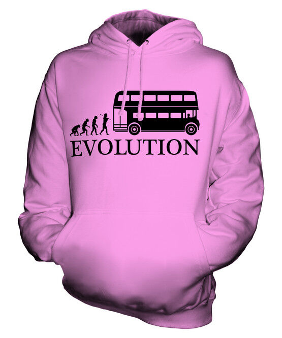 OLD LONDON BUS DRIVER EVOLUTION OF MAN UNISEX HOODIE MENS WOMENS LADIES GIFT