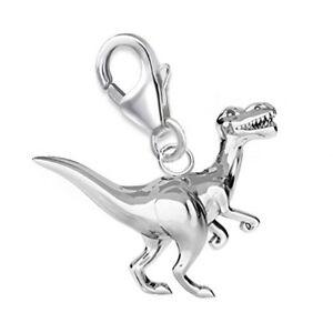Anhänger Dinosaurier Brontosaurus mit Karabinerverschluß Sterling Silber Charm