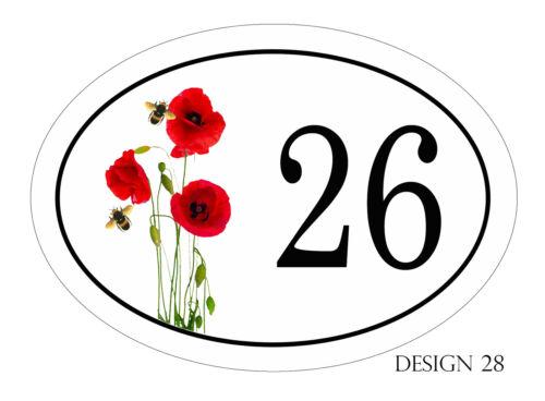 House,door,caravan name or number  Floral Design Plaque//sign YOUR DETAILS  FREE