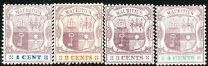 Mauritius-1895-part-set-crown-CA-perf-14-mint-SG127-128-129-130-4