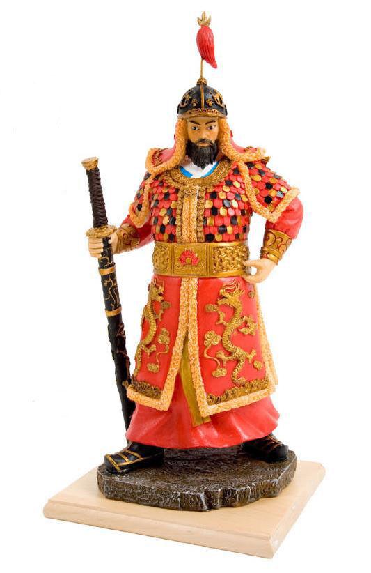 Korean Admiral General Yi Sun-shin Doll Figurines Historical Hero Hero Hero in Korea ea501b