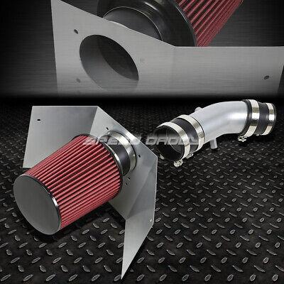 FOR 03-05 AVIATOR SUV 4.6 V8 WRINKLE FINISH AIR INTAKE ALUMINUM PIPE+HEAT SHIELD