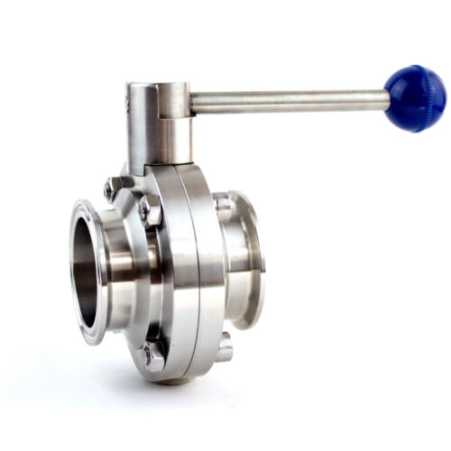 """1-1//4/"""" Sanitary Stainless Steel 304 Butterfly Valve Tri-Clamp Silicone Sealing"""
