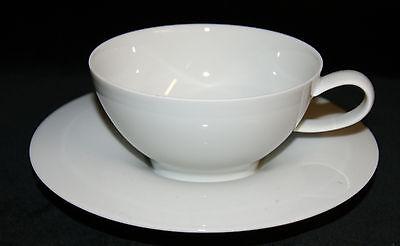 Alt Fürstenberg Porzellan Tasse /& Untere Kaffee Gedeck weiß uni 2 tlg