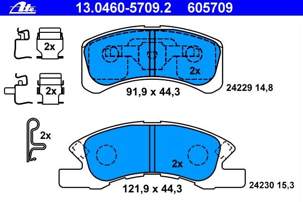 Bremsensatz NK 225114 Bremsscheiben und Beläge Vorn CHARADE CUORE VI TREVIS