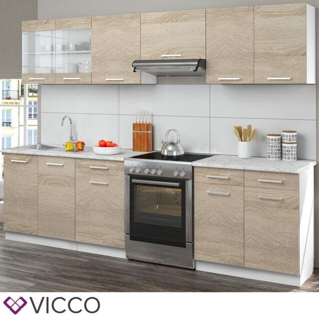 Vicco Küchenzeile - Sonoma Eiche, 270 cm (13IW24903)