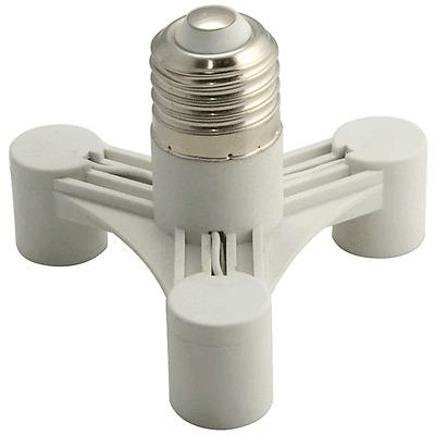 Crystal Chandelier Socket Splitter Light Lamp Bulbs Base Holder Adapter 3 in 1