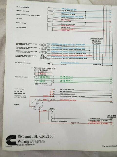 Cummins Isc And Isl Cm 2150 Wiring Diagram Bulletin