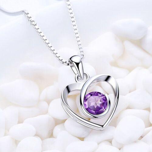 Long Heart Crystal Fashion Argent Cadeau Chaîne Bijoux Femmes Collier Pendentif