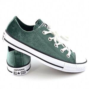 Details zu Converse Chuck Taylor All Star Ox Women's Size 6 Green Velvet Shoes 557994F