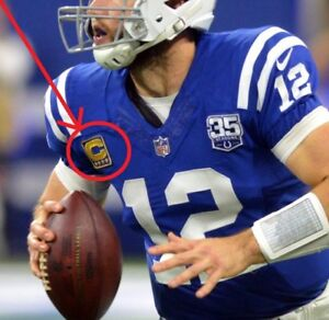 Details about AFC South Indianapolis Colts QB Andrew Luck 4-FOUR-STAR⭐GOLD CAPTAINS Patch