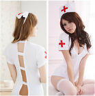 Hot Sexy Women's Nurse Doctor Uniform Costume Lingerie Halloween Cosplay Dress