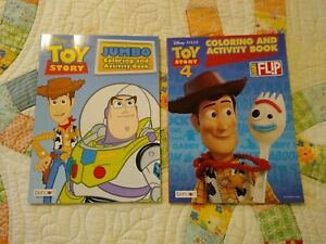 Disney Toy Story Jumbo Coloring Activity Books 2 Pack Tear Share Pages New Ebay