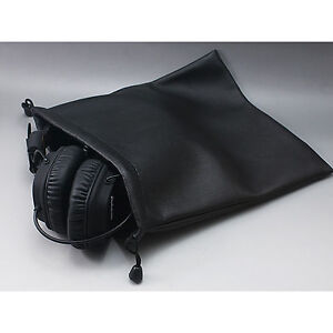 Image Is Loading Leather On Ear Headphone Bag For Sennheiser Ath