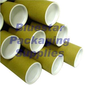 100-x-A2-Postal-Tubes-450mm-x-50mm-18-034-x-2-034-End-Caps
