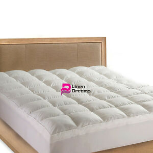 cotton size resistant cover dp down alternative topper com hypoallergenic filling king amazon mattress top pillow pillowtop fitted pad water