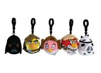 "NEW OFFICIAL 3"" STAR WARS ANGRY BIRDS BAG CLIPS PLUSH SOFT TOYS ANGRY BIRDS"