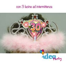 CORONA DIADEMA 30 ANNI con LED - Gadget idea regalo festa 30° Compleanno