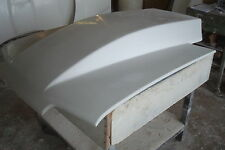 """Fiberglass 6"""" Cowl Bolt-on Mustang Hood 87-93, uses front latch and hinges"""