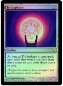 MTG X1  Trinisphere FOIL, FTV  Exiled, M, Light Play - FREE US SHIPPING