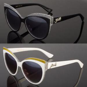 New-Women-039-s-Classic-Cat-Eye-Designer-Fashion-Shades-Sunglasses-White-Black