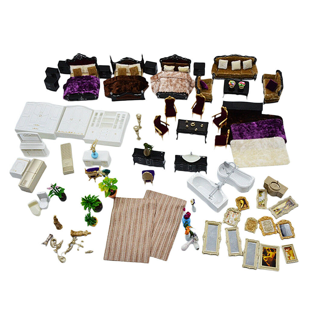 1:25 scala casa famiglia casa arrossoo modello Set Diorama Layout parti Nero