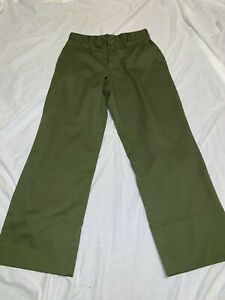 OFFICIAL-BOY-SCOUTS-OF-AMERICA-GREEN-STRETCH-WAIST-30x29-TAG-READS-32X32-PANTS