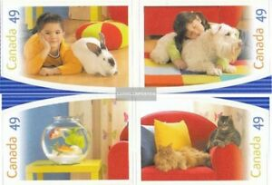 complete.issue. Never Hinged 2004 Pets Canada 2210-2213 Unmounted Mint