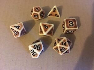 Ancient-Multi-sided-dice-set-of-7-D4-D6-D8-D10-D12-D20-Dungeons-D-amp-D-RPG-poly