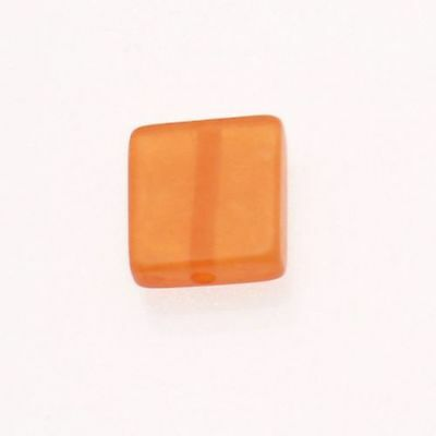 Gentil Perle En Résine Carré 18x18mm Couleur Orange Brillant (x 1)