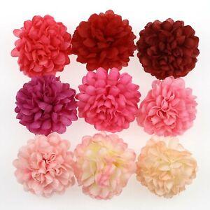100XBulk-Artificial-Silk-Flowers-Heads-Fake-2-034-Spherical-Daisy-DIY-Wedding-Decor