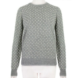 Michael-Kors-Grey-Cashmere-Pearl-Embellished-Knitwear-Sweater-S-IT40