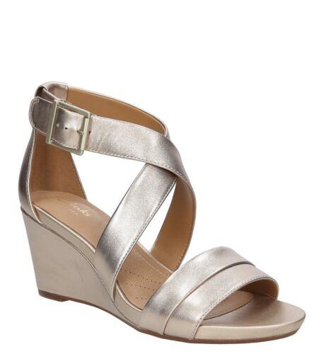 Clarks Newport Acina Keilabsatz Gr 26125768 Damen 40 37 Sandaletten Sale Leder gfqxTWHw5H