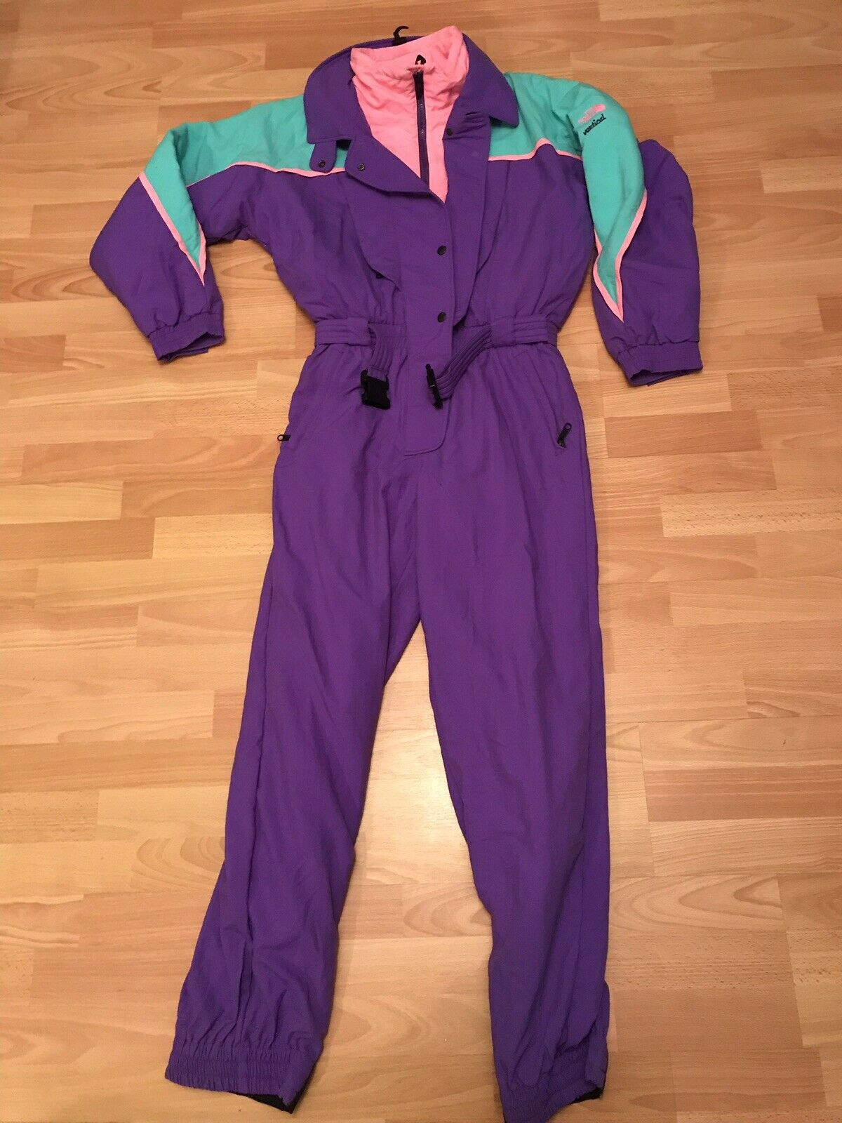 Rare Vtg Women's  The North Face greenical Gore-Tex Snowsuit Ski Suit One-Piece 12  in stock