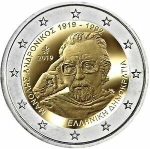 Griekenland-2019-Manolis-Andronicos-2-euro-CC-UNC