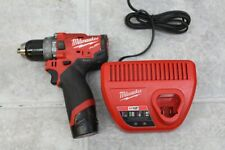 New Listingmilwaukee 2504 20 M12 12v Fuel 12 Brushless Hammer Drill 20 Battery Amp Charger