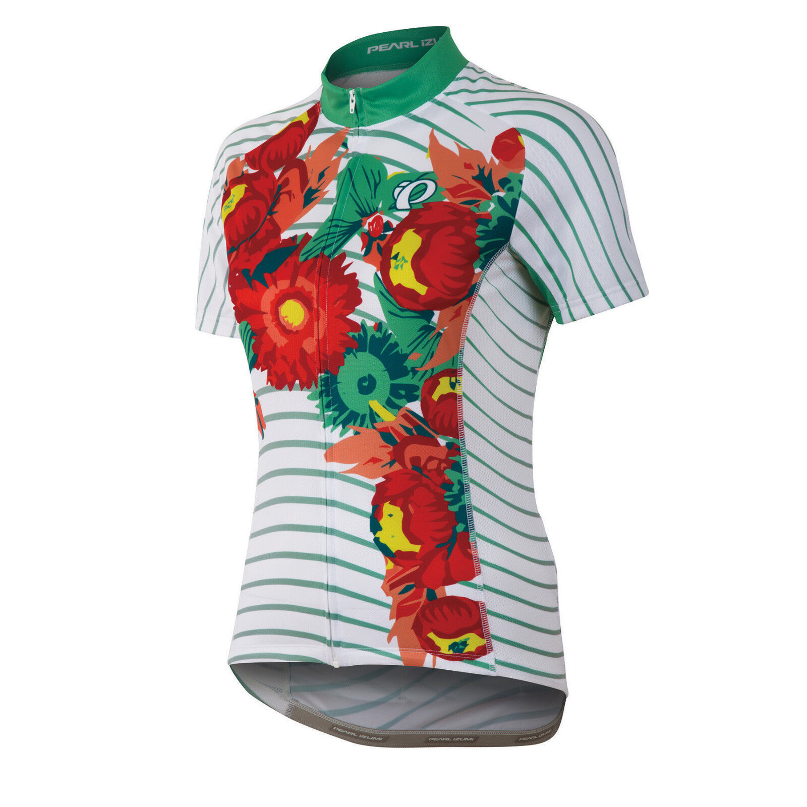 Pearl Izumi Womens Elite LTD Cycling Jersey - White with Floral Print - L