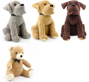 Image Is Loading Corduroy Soft Toy Dog Teddy Heavy Doorstop Door