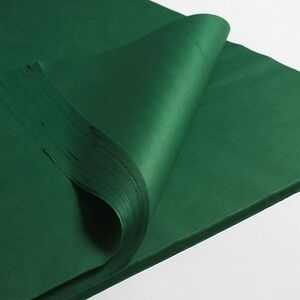 """100 x GREEN SHEETS OF ACID FREE TISSUE WRAPPING PAPER SIZE 450 X 700MM 18 X 28"""""""