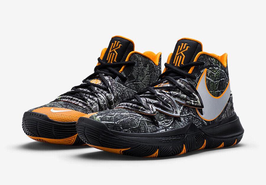 Nike Kyrie 5 Taco PE Size 12-14 Black orange Woodland Camouflage AO2918-902
