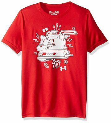 Under Armour patterned shirt NWT UPICK boy S M L red black